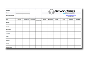 drivers hours spreadsheet driver hours