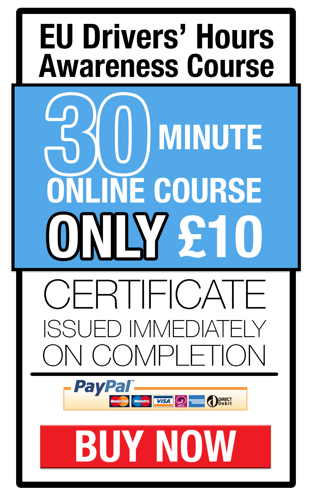 EU Drivers Hours training online