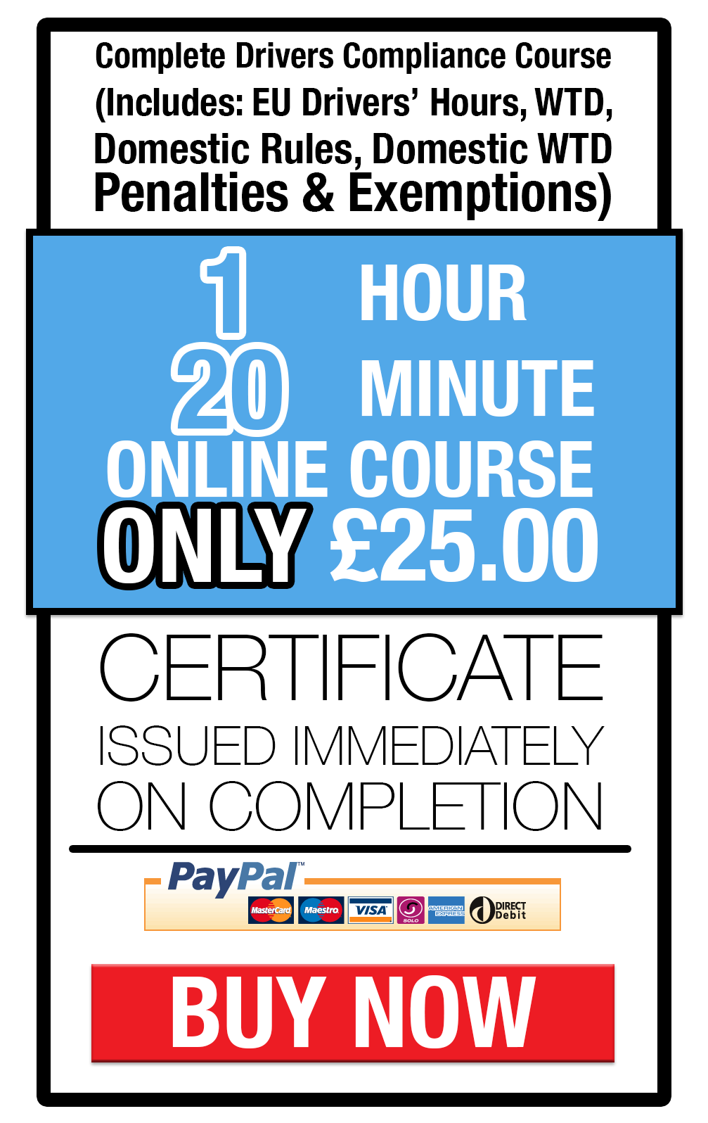 Drivers hours awareness training online
