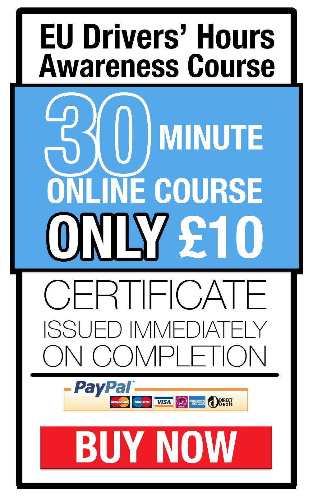 EU Drivers Hours training online