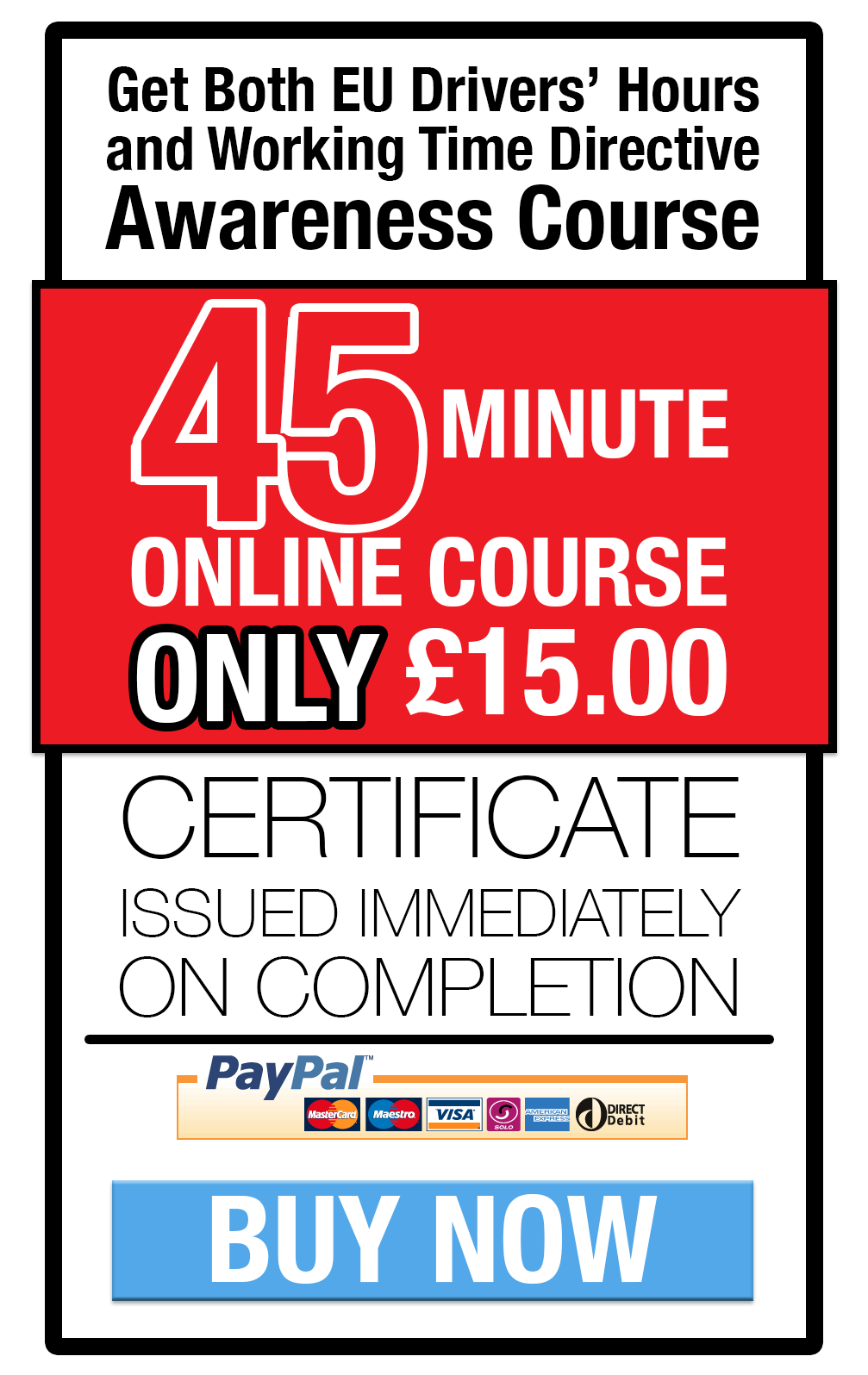 EU Drivers Hours & Working Time training online