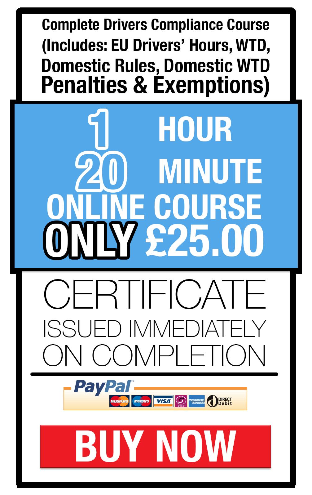 Drivers hours awareness training online