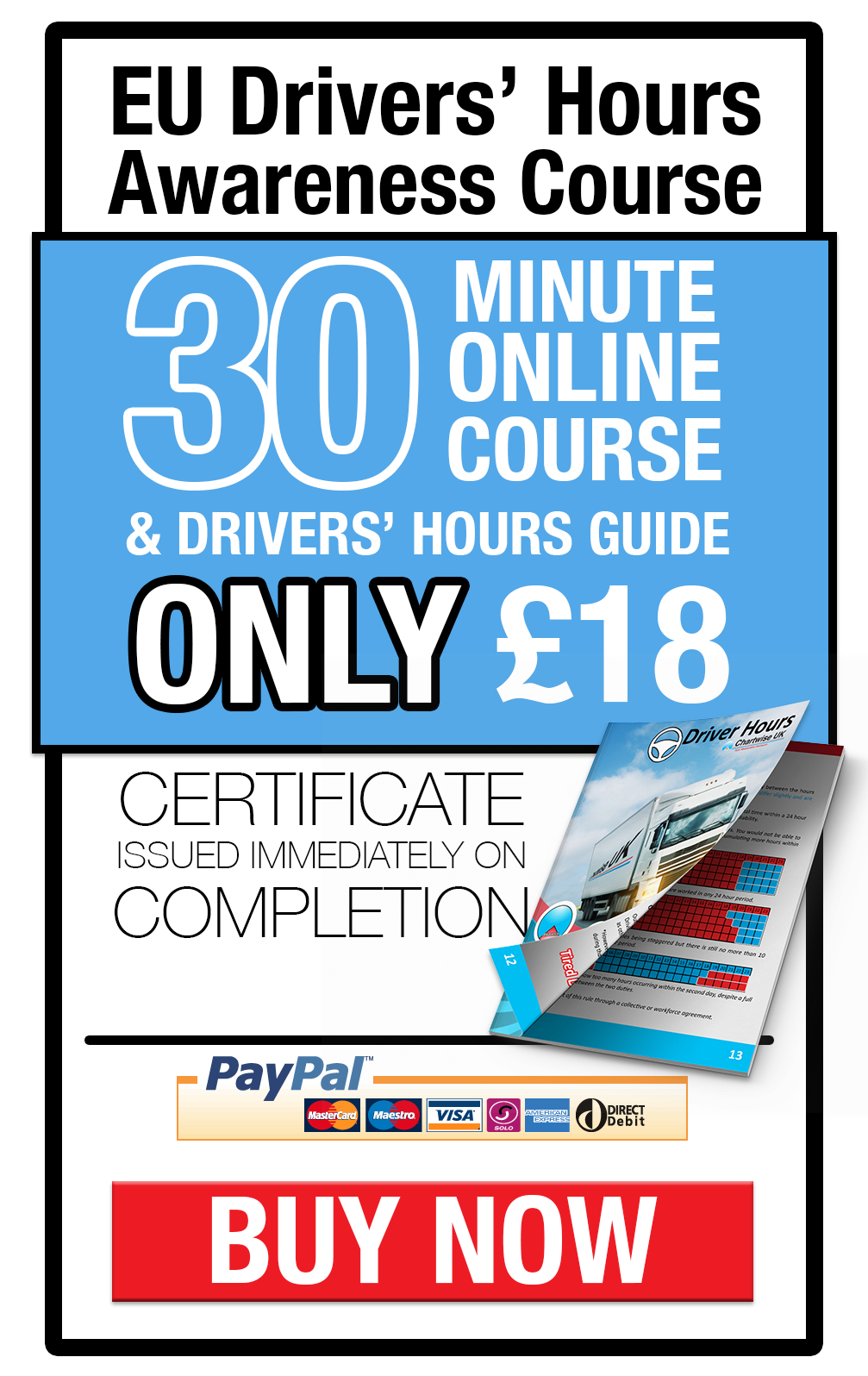 Drivers hours online course and book