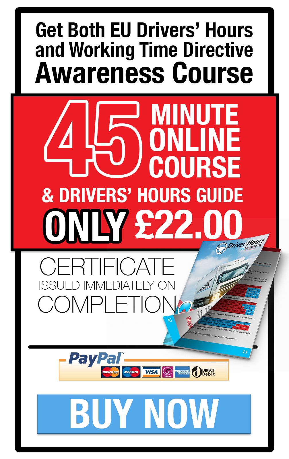 Drivers hours, wtd online course and book